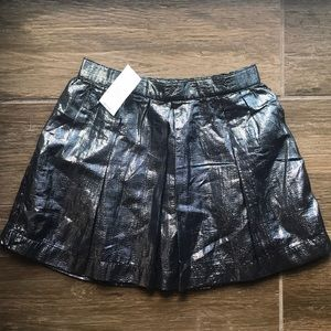 NWT Gap Gun Metal & Black Shimmery Skirt in 3t